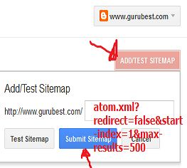 add blogger sitemap to webmaster tool