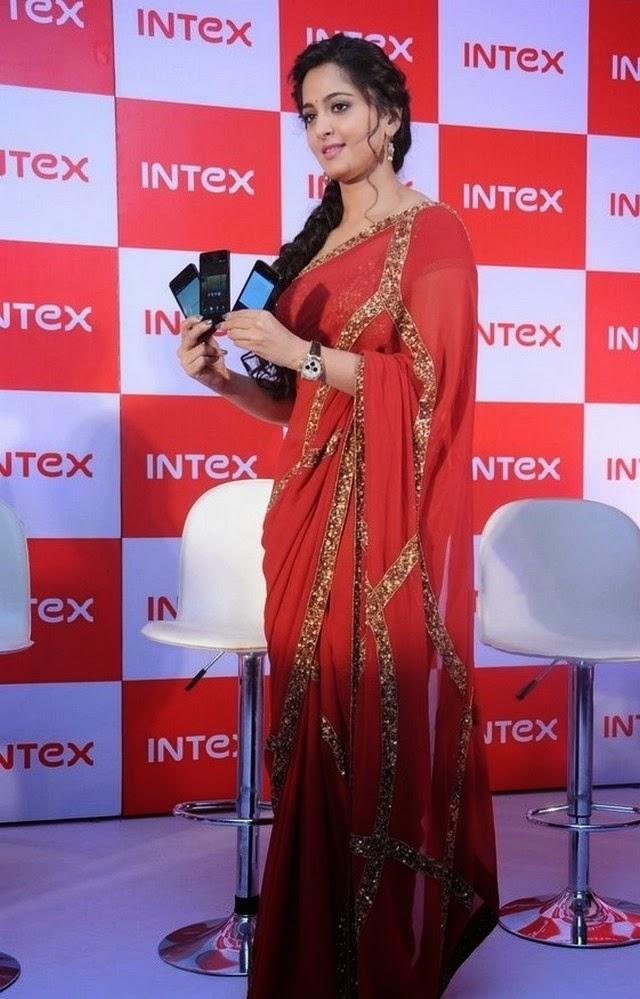 Anushka Shetty at INTEX Launch Event Stiils