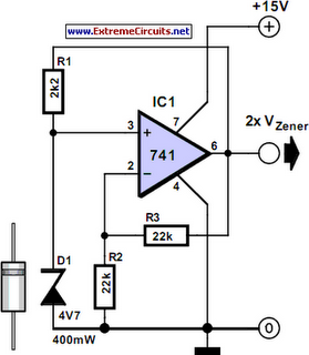 voltage reference stable zener electronic circuits  schematics diagram  free electronics projects Amplifier Circuit Diagram electronic circuits projects diagrams free pdf