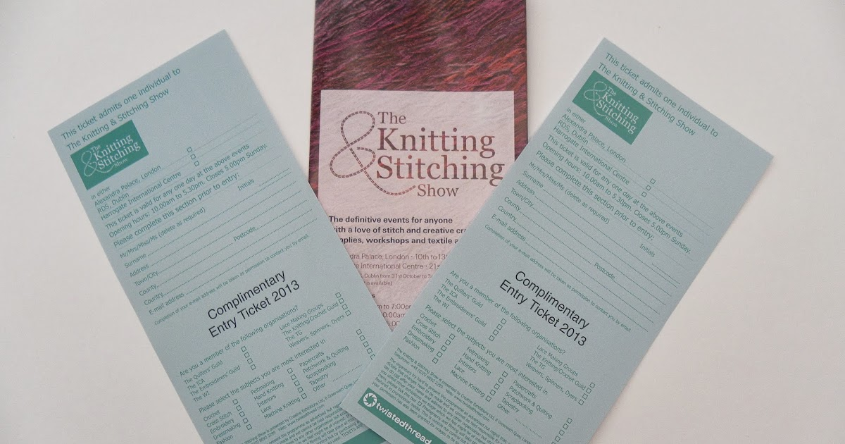 Knitting And Stitching Show Ticket Offers : Becca Lou Creates: Ticket Giveaway - Harrogate Knitting and Stitching Show 2013