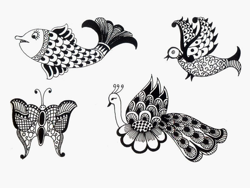 peacock henna design fish henna designs henna design. Black Bedroom Furniture Sets. Home Design Ideas