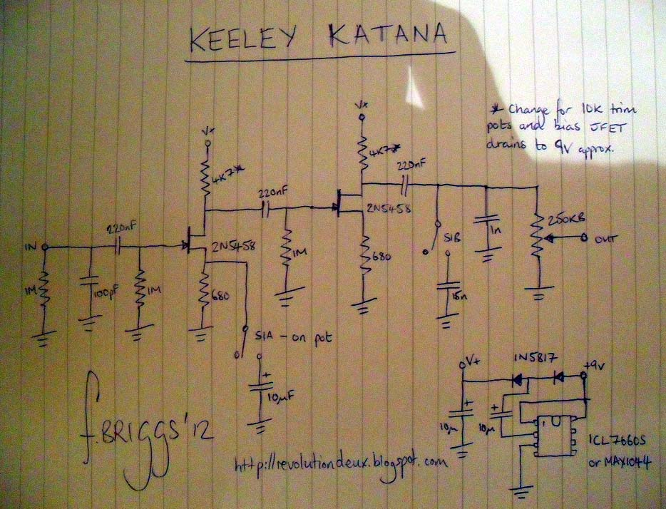Guitar FX Layouts Keeley Katana Boost Layout Rev 2 – Diy Clean Boost Pedal Wiring-diagram