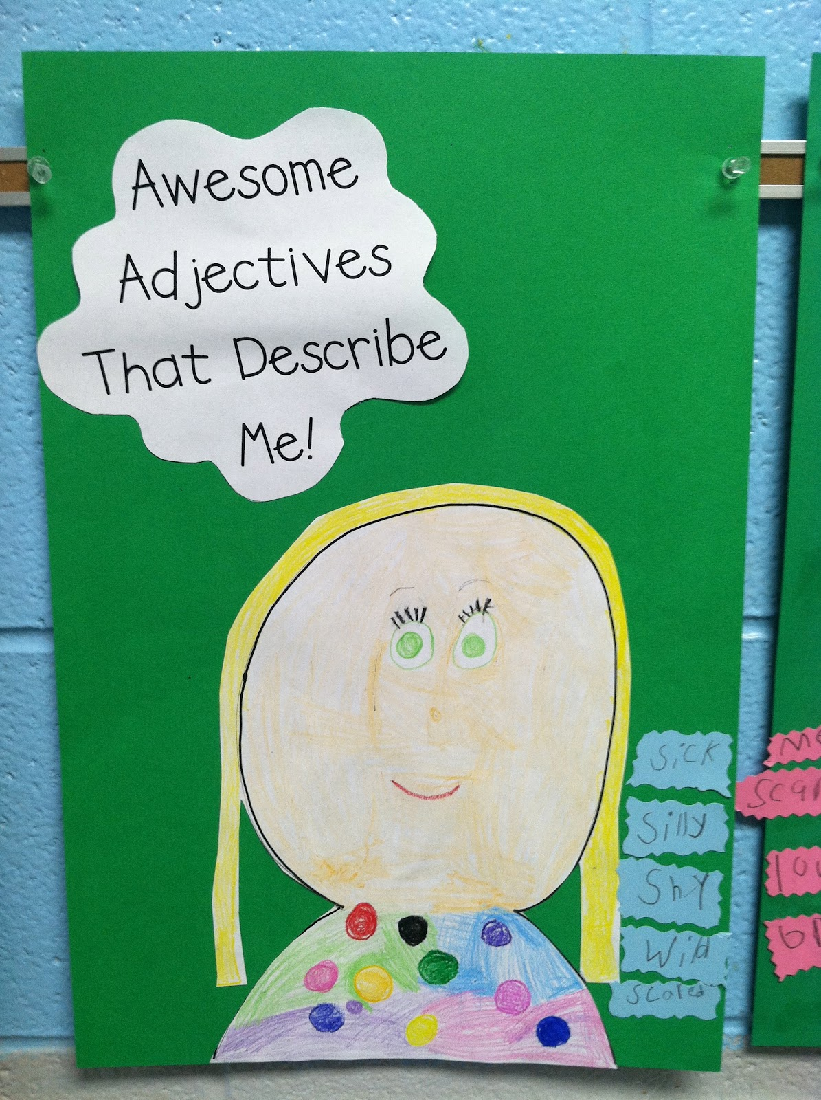life in first grade awesome adjectives and anchor charts so when i saw this adorable awesome adjectives activity from first grade lyon s den via i knew we had to recreate it in our classroom