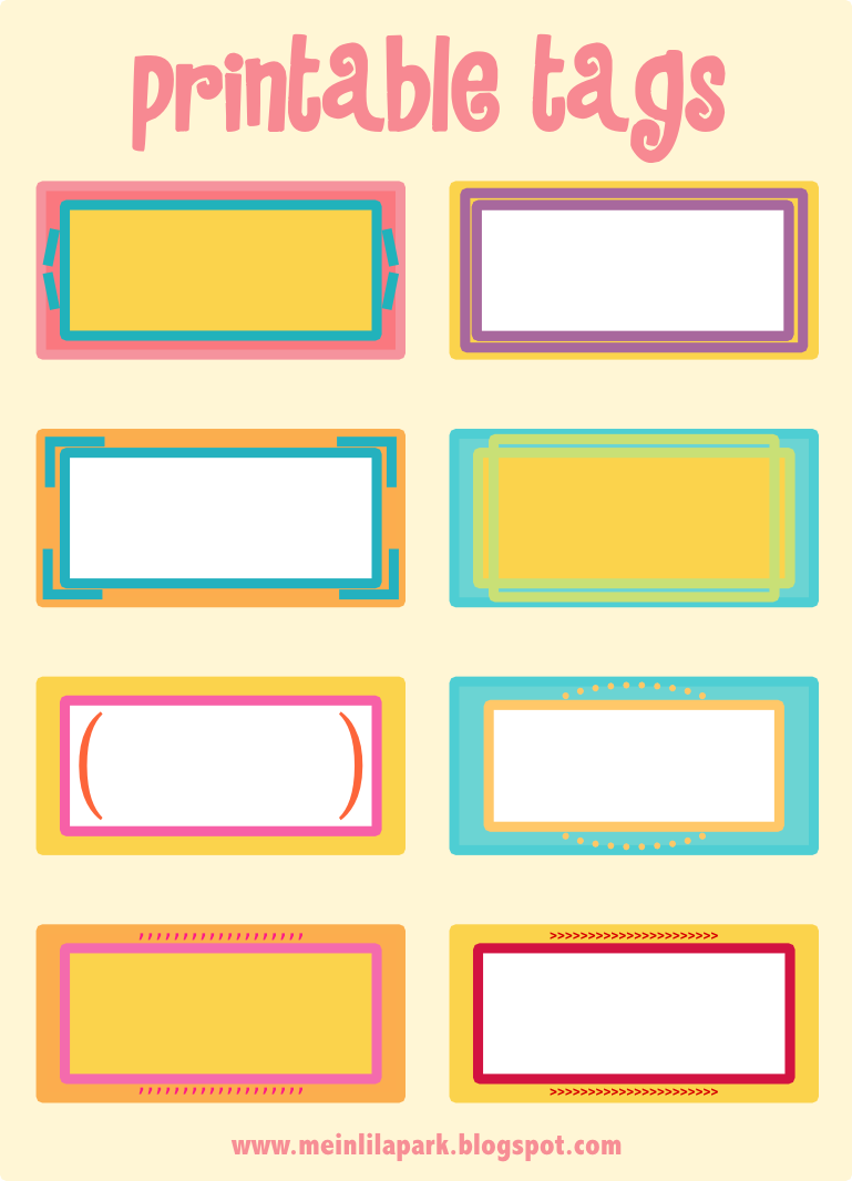 Clean image intended for free printable name labels