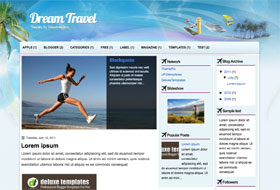 Dream Travel Blogger Template
