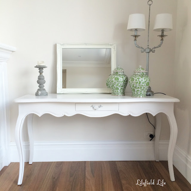 french style white painted console
