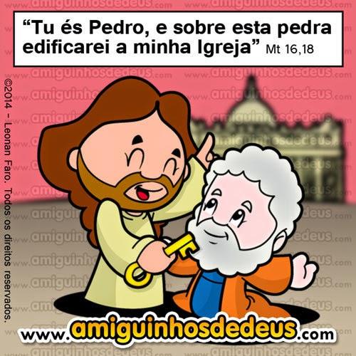 tu és Pedro, e sobre esta pedra edificarei a minha Igreja desenho