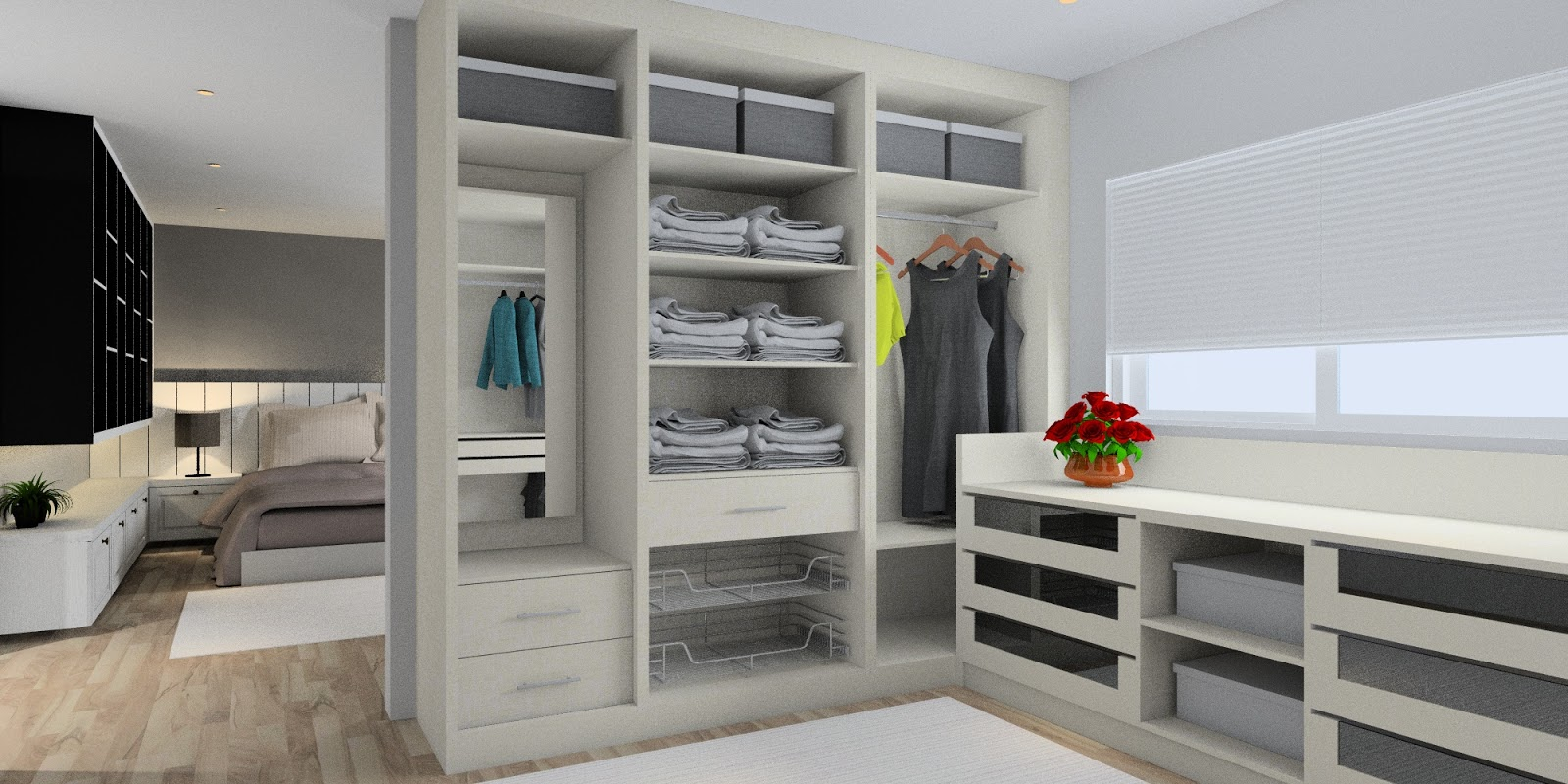 Meridian interior design and kitchen design in kuala for 4 door wardrobe interior designs