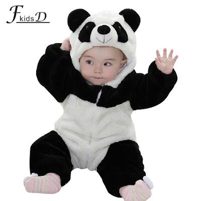model baju bayi panda lucu terbaru 2016