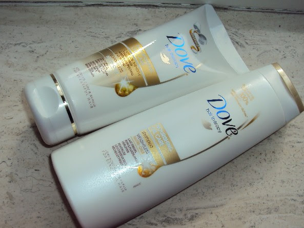 Dove nourishing oil care shampoo & conditioner.