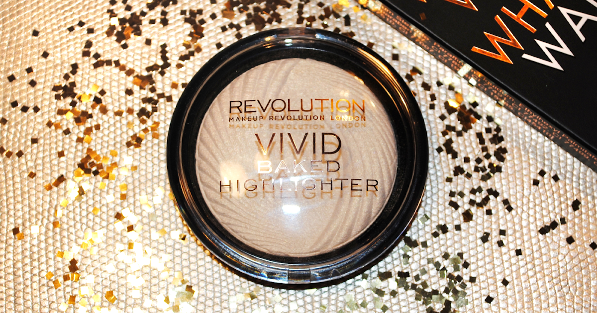 ROZŚWIETLACZ VIVID BAKED HIGHLIGHTER OD MAKEUP REVOLUTION W KOLORACH GOLDEN LIGHTS I PEACH LIGHTS. - Fuksja Make Up