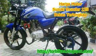 Harga Motor Suzuki thunder 125 Bekas Terlengkap