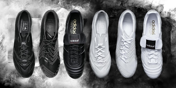 c7b7d86635d9 Adidas is at again, launching a new whiteout and blackout colorways for  their famous Adidas Predator Instinct, F50 Adizero leather boot and the  most iconic ...