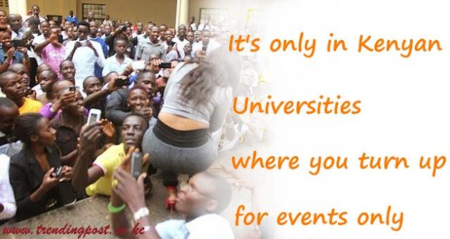 #ItsOnlyInKenyanUniversities
