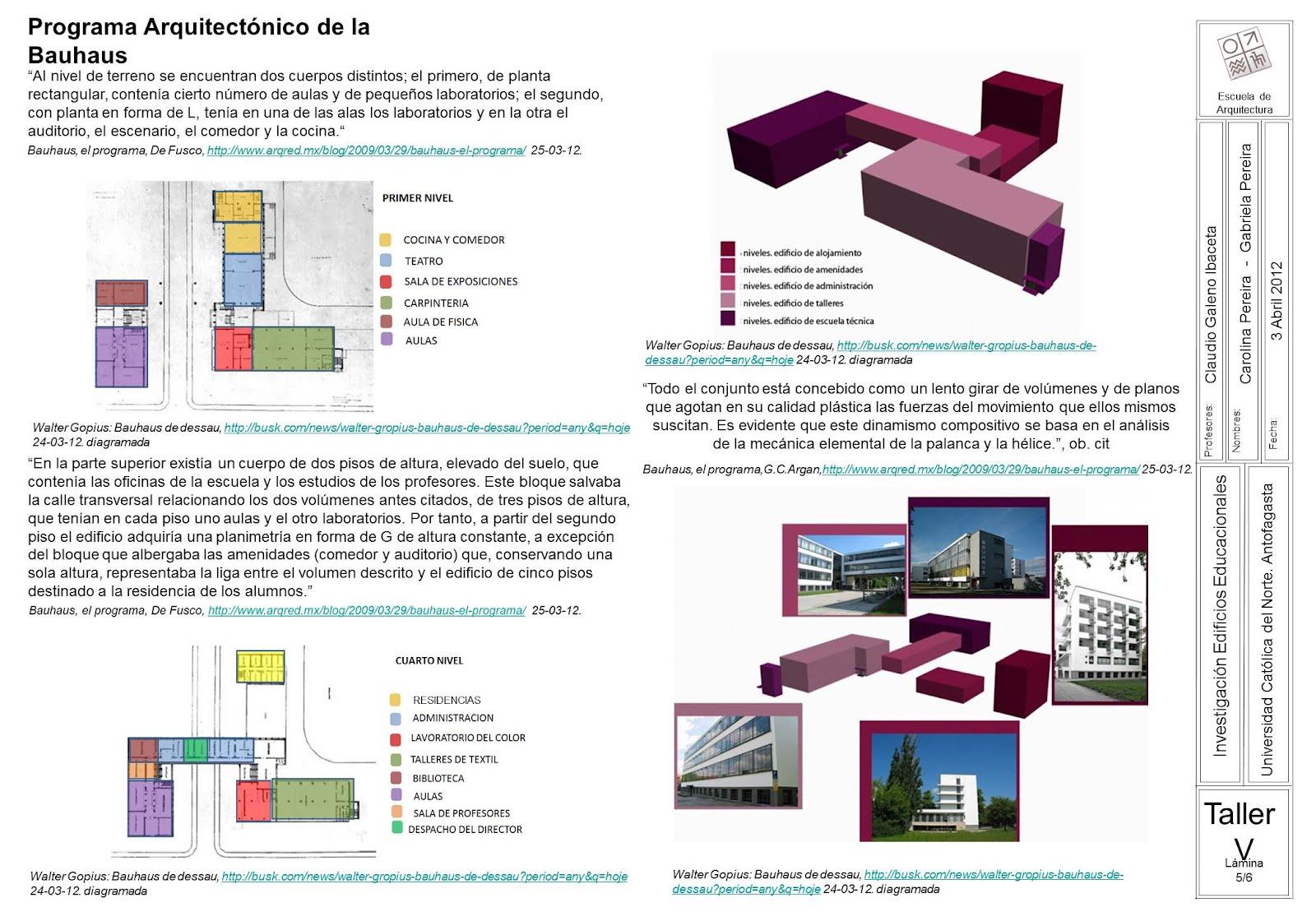 Taller de arquitectura 5 lenguaje 1er semestre de 2012 for Programas arquitectura