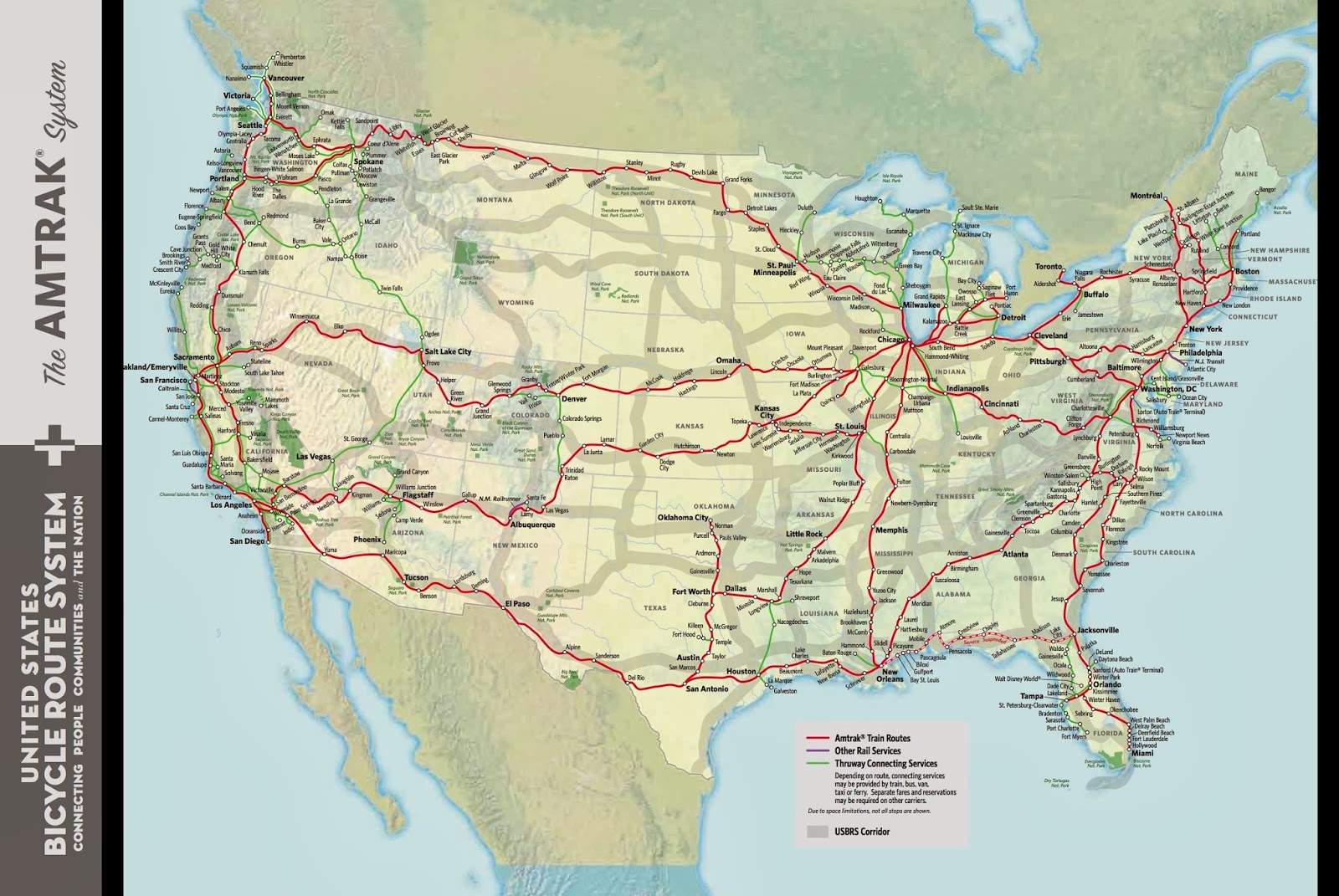 Have Bicycle Will Travel United States Bike Route SystemAmtrak – Train Travel In Usa Maps