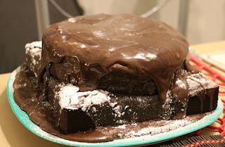 The best cake in the world! It has bacon in it!