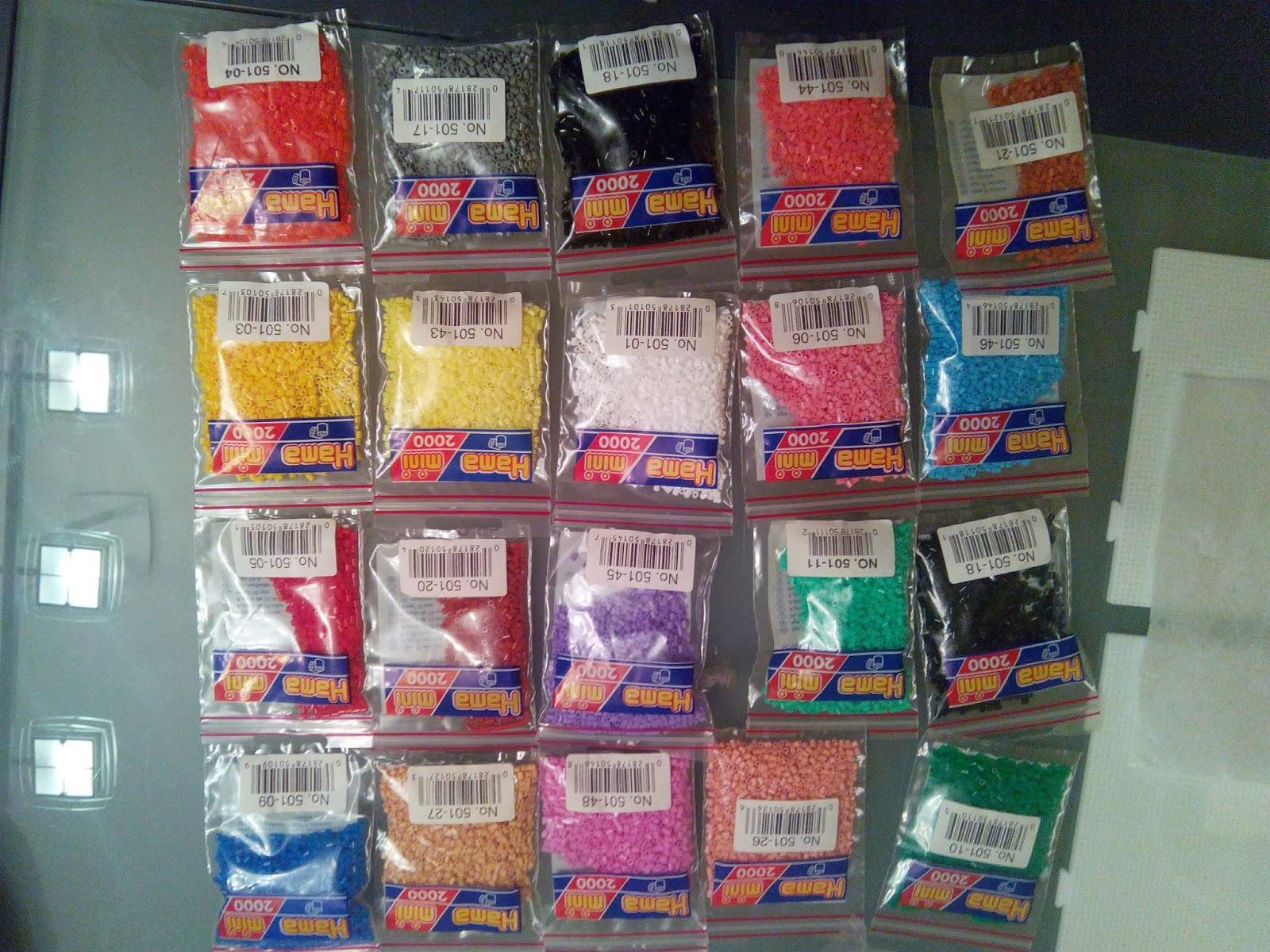 Bolsitas de Hama Beads de muchos colores