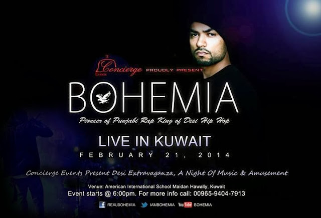 BOHEMIA the Punjabi Rapper - Live in Kuwait, Feb. 21 2014
