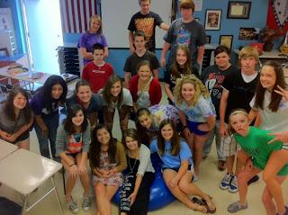 McClung's homeroom class