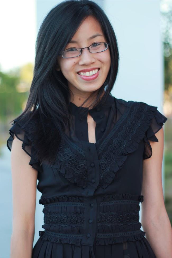 peplum chiffon black blouse