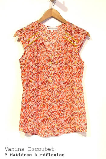Soldes Vanina Escoubet Top Ikat orange