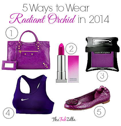 radiant orchid, pantone color 2014, how to wear radiant orchid, purple eye makeup