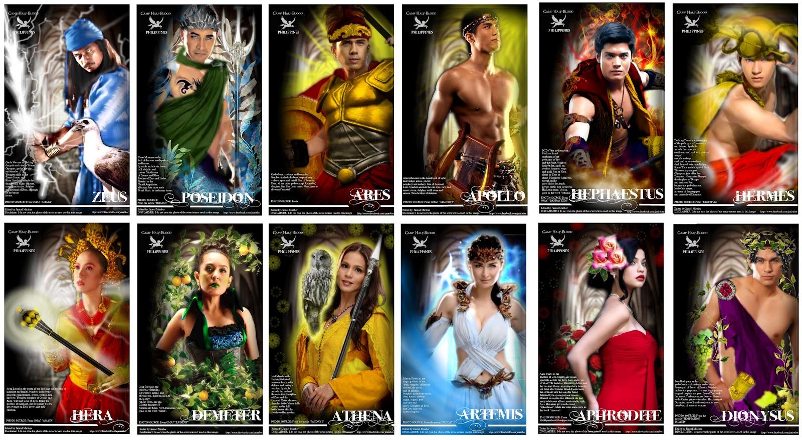 jim vill mir pinoy celebrity greek gods u0026 goddesses by jimuel miraber