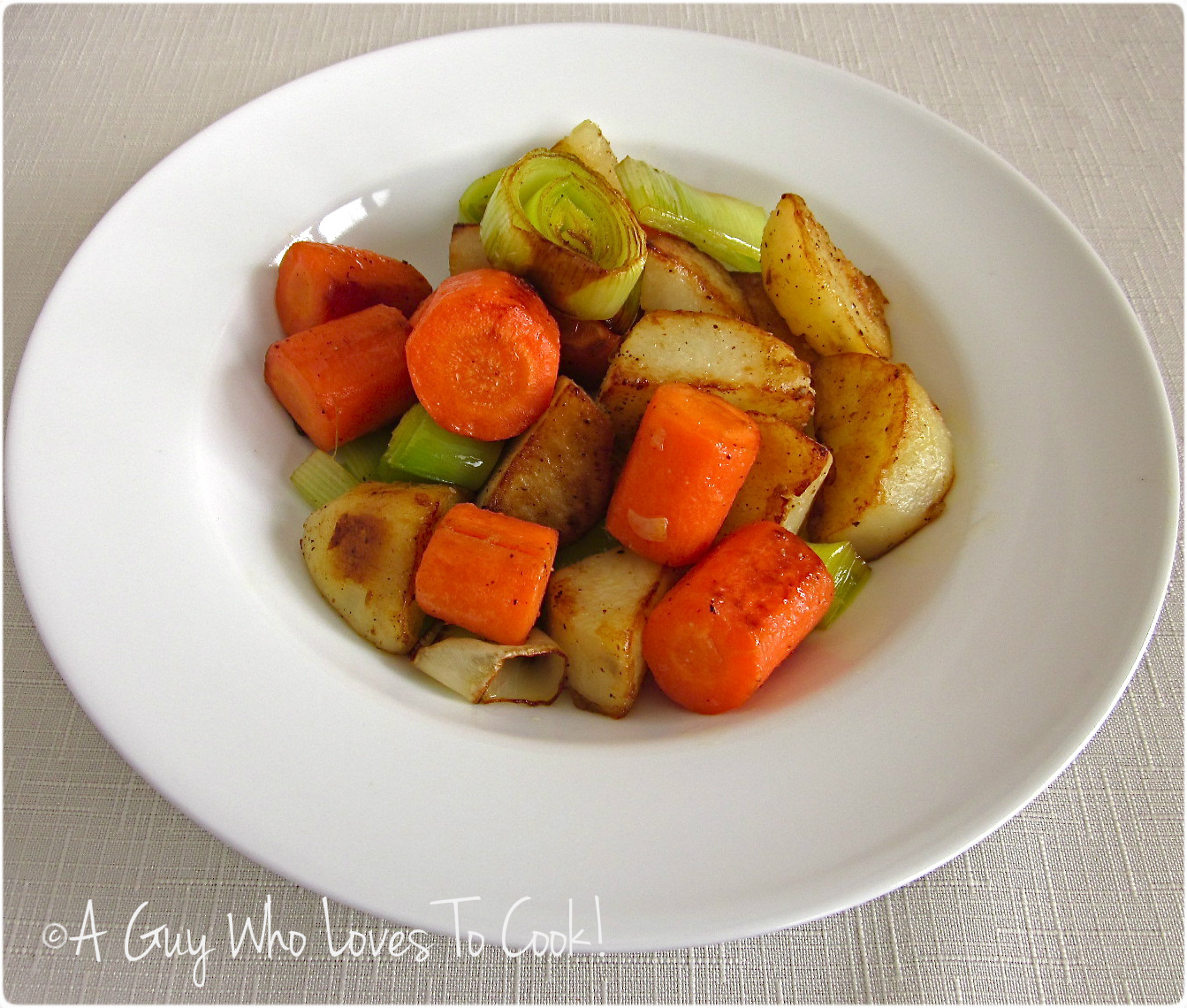 Stovetop Roasted Root Vegetables