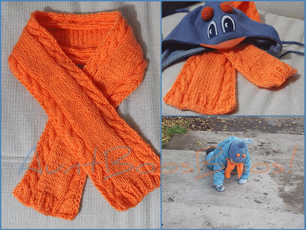 Вязание спицами. детские шарфики