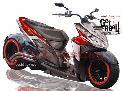 Foto Modifikasi Honda Vario LowRide 2014