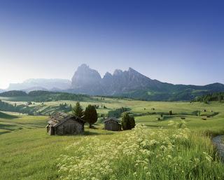 Das traumhafte Landschaftsbild auf der Seiser Alm