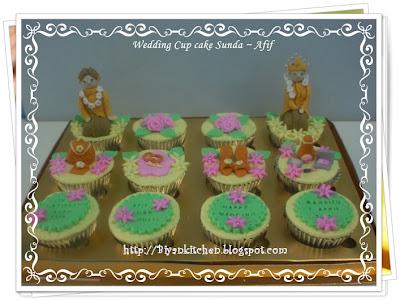 Cup Cake pengantin sunda