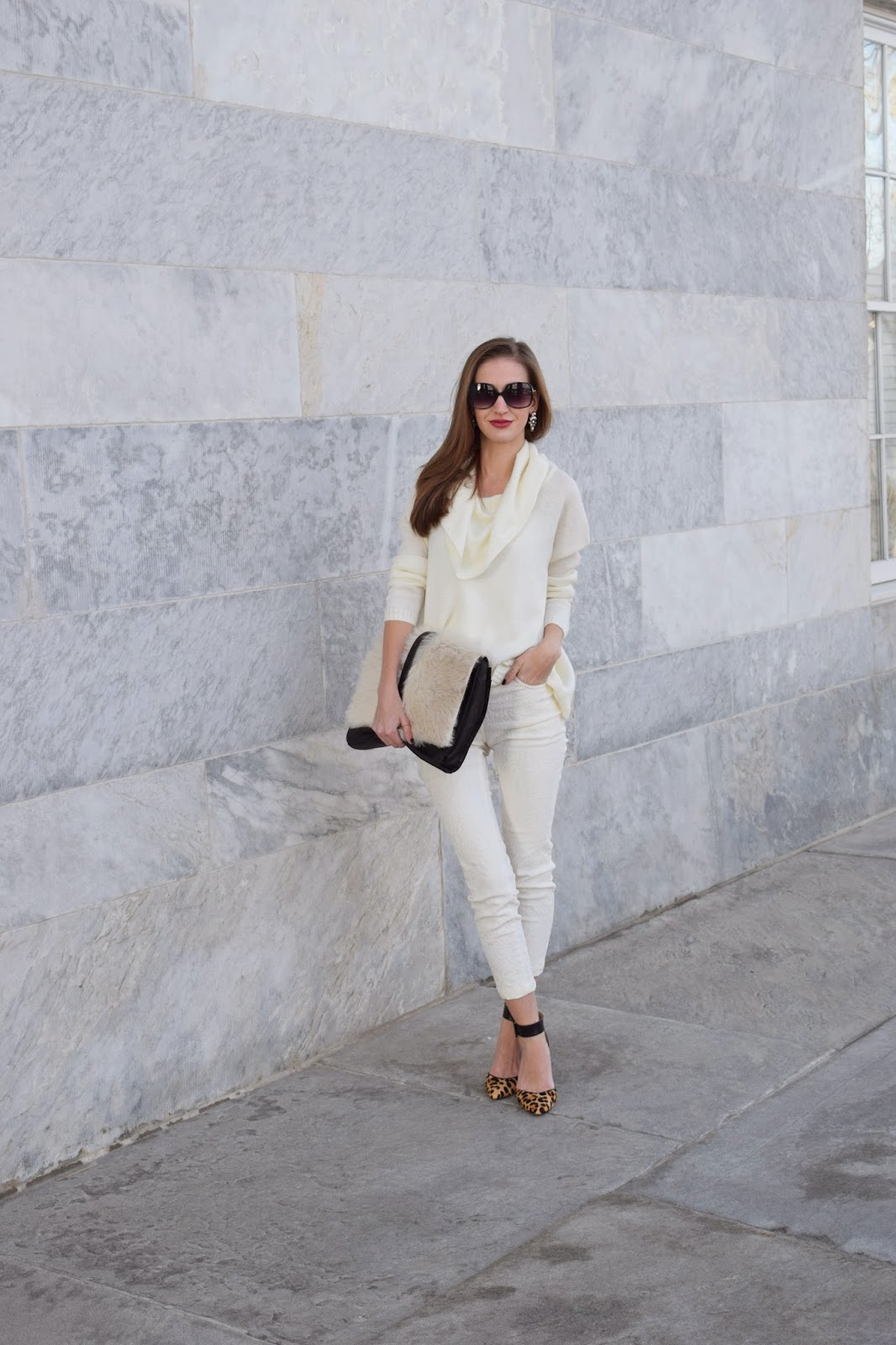 Wearing Winter Whites, Little Liffner Furry Clucth