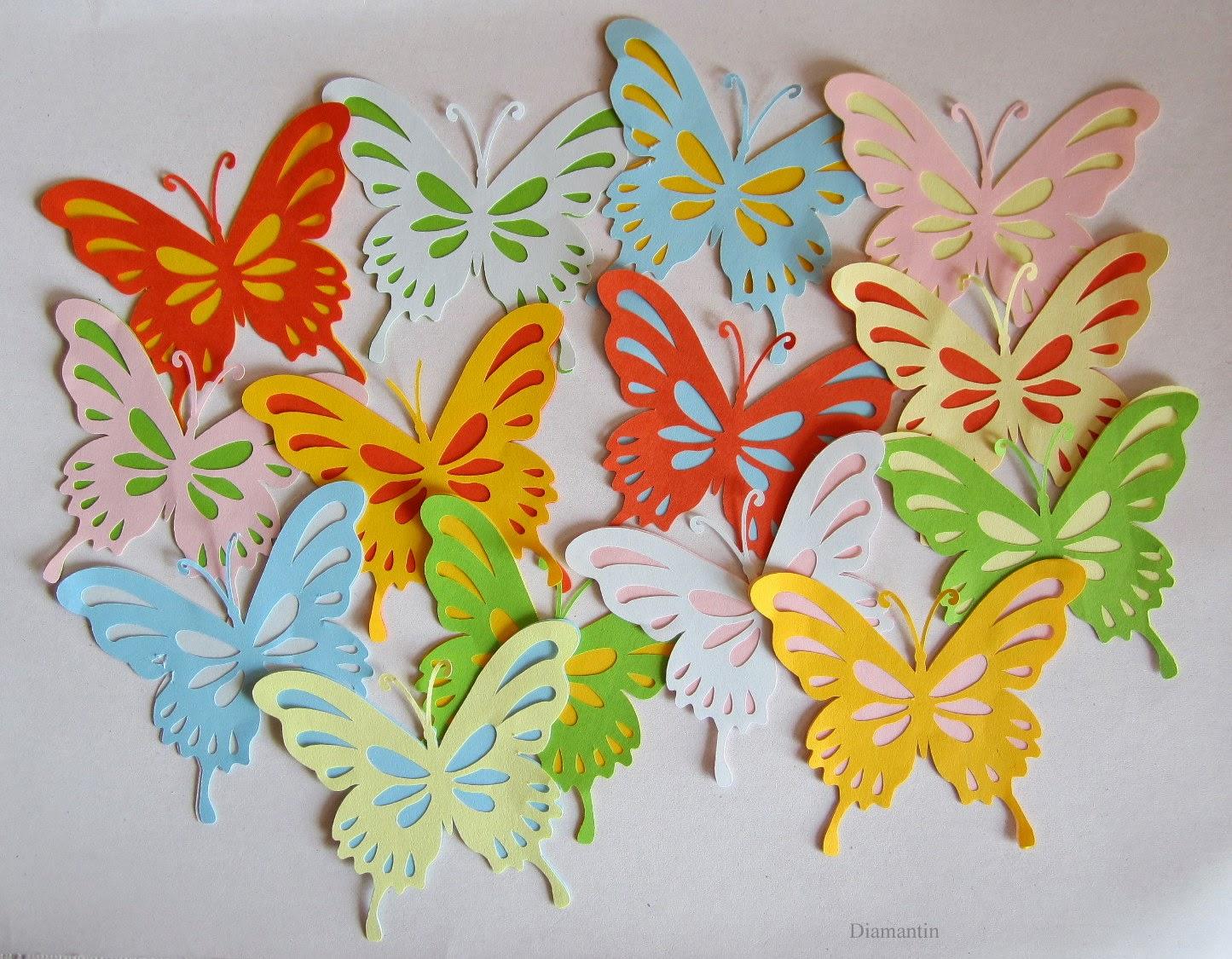 Diamantin´s Hobbywelt: Schmetterlinge für´s Fenster