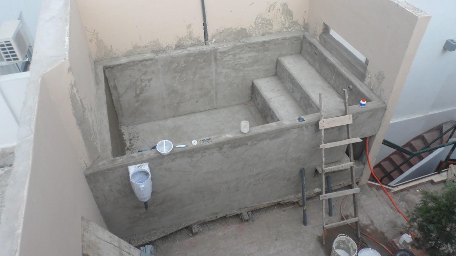 Construcci n de piscinas en terrazas y azoteas for Construccion de piscinas de hormigon