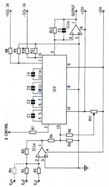 Voltage Controlled Filter SSM2044P Circuit Diagram