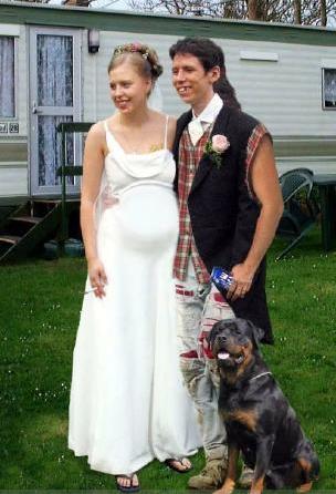 Ugly Wedding DressFunny Wedding Couple