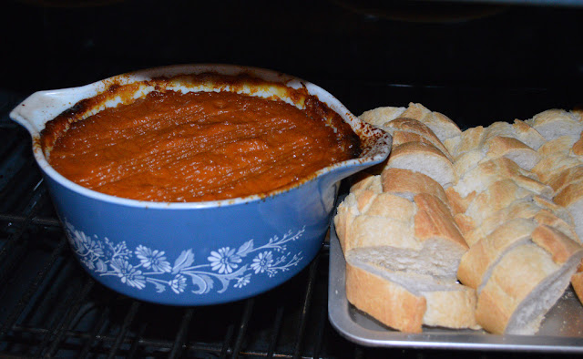 sweet potato casserole, toasted french bread