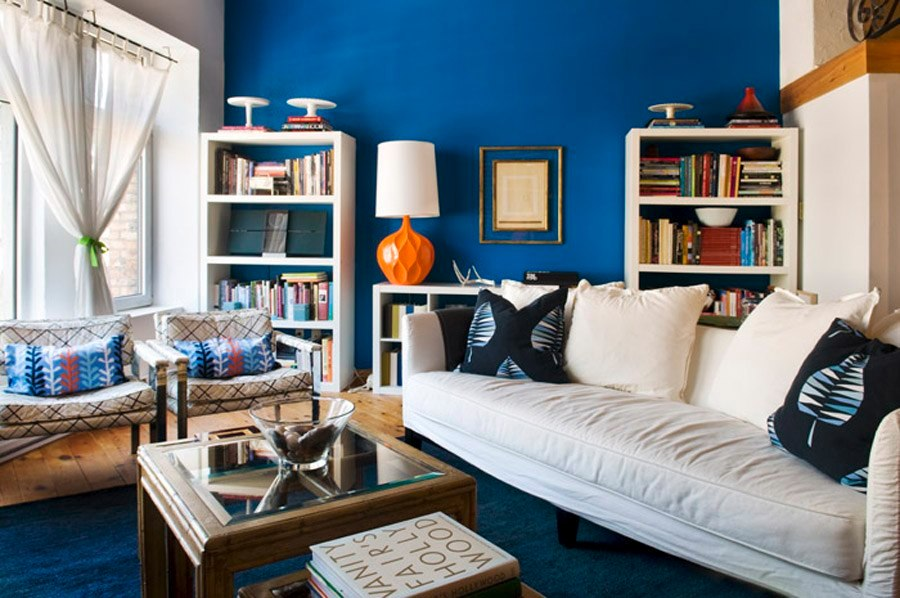 Modern Blue Interior Designs Living Room Interior Car