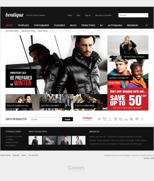 GK Boutique - Gavick Pro Joomla Templates