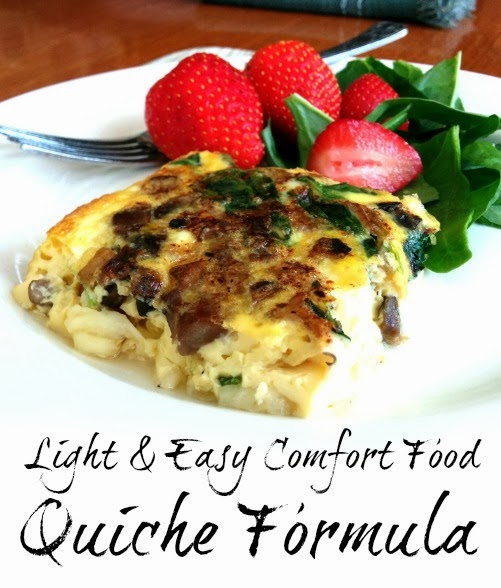 A Beautiful Little Life shared her Light Easy Comfort Food No Fail Quiche featured at One More Time Events.com
