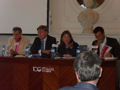 Francisco Sosa-Wagner, Antonio López Istúriz, Inmaculada Valencia y Pedro Sánchez