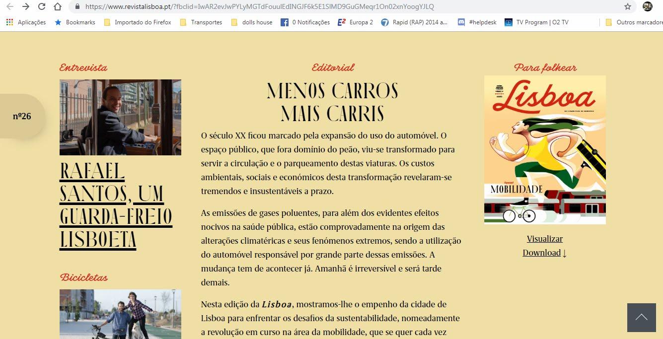 Diário do Tripulante na revista Lisboa