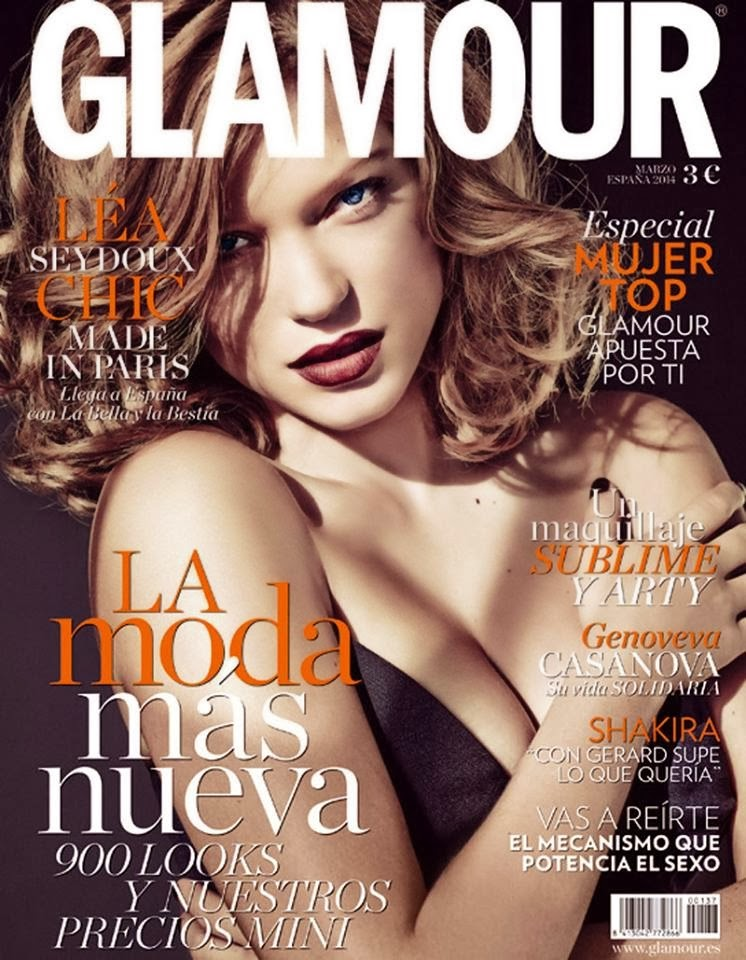 Léa Seydoux Photos from Glamour Spain Magazine Cover March 2014 HQ Scans