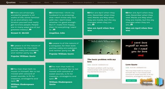 Share Quotes Responsive Blogger Template