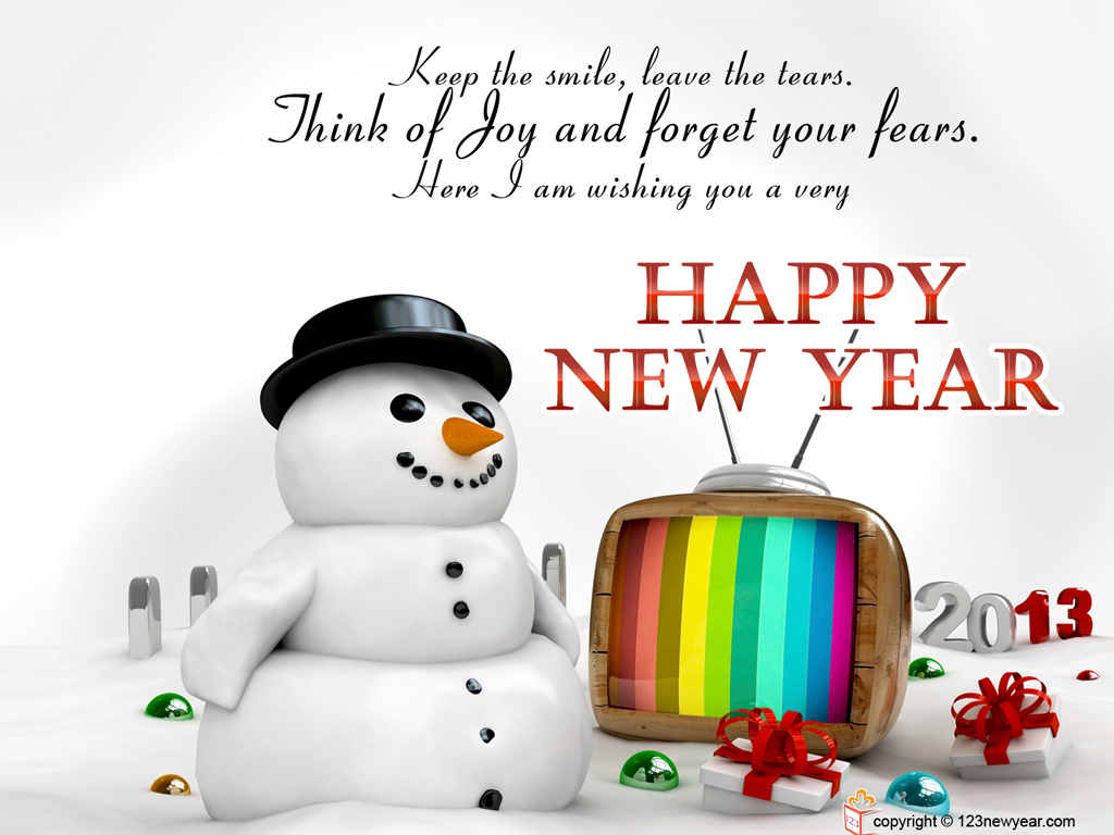 with God's blessing in New Year 2013 to take big strides this year