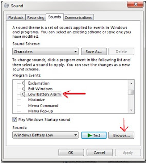 Cara Mengganti Peringatan Baterai Melemah Di Windows Seven