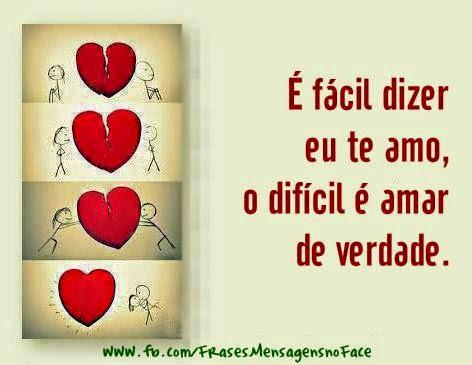 Frase é Facil Dizer Eu Te Amo Fotos Para Facebook