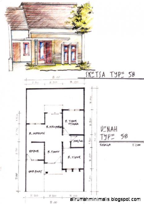 sketsa denah rumah minimalis  Cara Mendesain Rumah